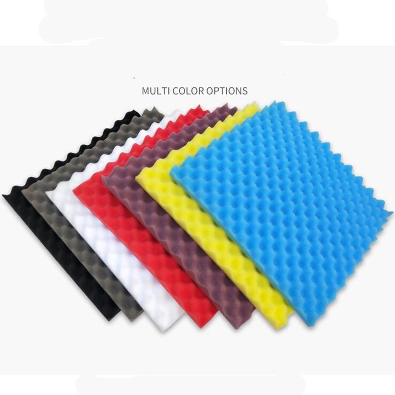 White 6Pcs Acoustic Foam Tiles Soundproofing Foam Panels Sound Insulation Soundproof Foam Padding Sound Dampening Studio KTV Sound Proof Padding 30X30X2CM