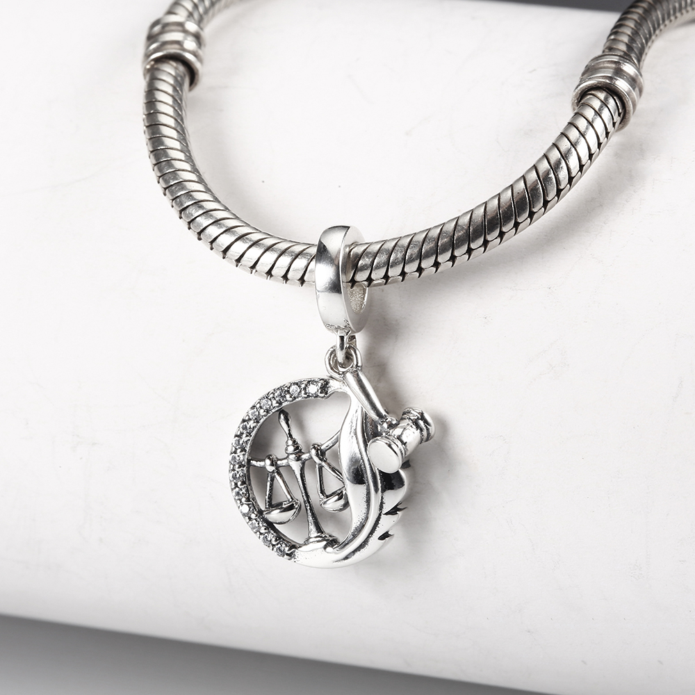Fits Pandora Charms Bracelets Silver 925 Original Beads Judge Hammer Balance Pendant For Women Bracelets Bangles Dropshipping Beads Aliexpress