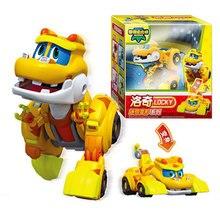 Abs Min Deformation Gogo Dino Action Figures Rex Transformation Car Airplane Motorboat Crane Dinosaur