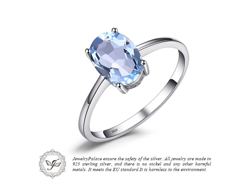 HTB1Nj1Um5QnBKNjSZFmq6AApVXaQ JE Genuine Amethyst Citrine Peridot Garnet Topaz Ring Solitaire 925 Sterling Silver Rings for Women Silver 925 Gemstones Jewelry