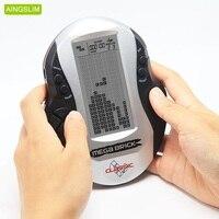 AINGSLIM ретро классические тетрис портативные игровые плееры детские электронные игры игрушки светодиодная игровая консоль со встроенной 26 и...