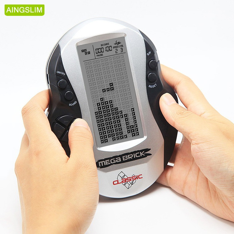 AINGSLIM Retro Classic Tetris I Giocatori di Gioco Portatili Infanzia Giochi Giocattoli Elettronici LED Console di Gioco con costruito in 26 giochi