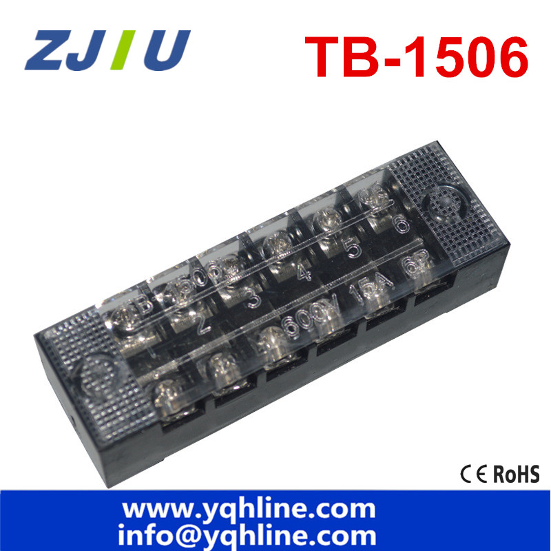 terminal blocks tb 1506 15a 6p patch panel wiring row. Black Bedroom Furniture Sets. Home Design Ideas