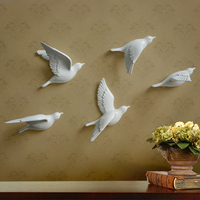 3D Resin Peace Dove/bird mural home decor pure color brand festival/wedding background wall quality creative hanging decoration