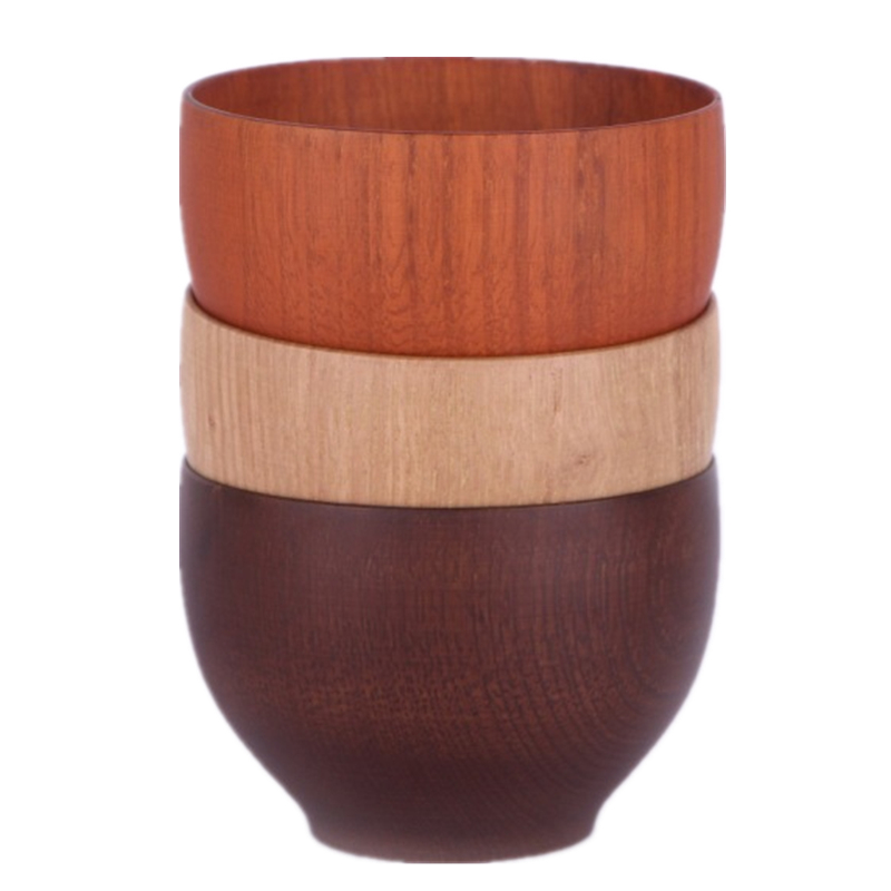 Doreenbeads Japanese Creative Wooden Bowl Small Size For Kids Use