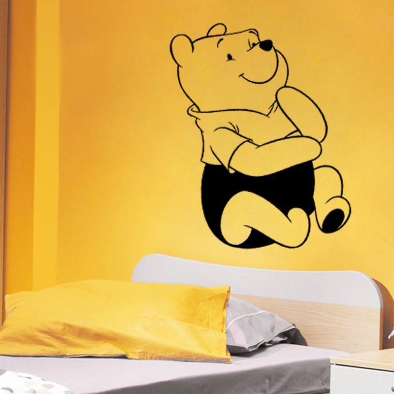 cute cartoon Winnie the Pooh Bear home decor for kids room ...