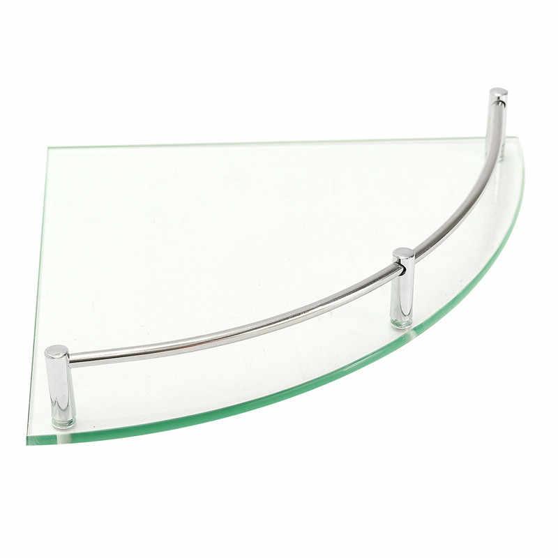 Nowoczesny szklany łazienka z wanną prysznic trójkątne półki organizer pojedyncza warstwa trwała jakość