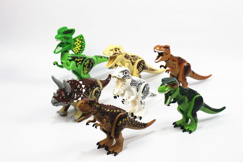 12pcs lot Tyrannosaurus Building Blocks bricks triceratop Dinosaur T rex Bricks children gift toys YG77028 YG77011