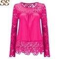 Novo 2017 mulheres blusa de renda blusas blusas camisas femme camisa 7xl plus size tops mulheres clothing