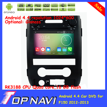 Top Quad Core Android 5.1.1 Car DVD Multimedia For F150 2012 2013 For Ford With 16GB Flash GPS Wifi BT Free Map