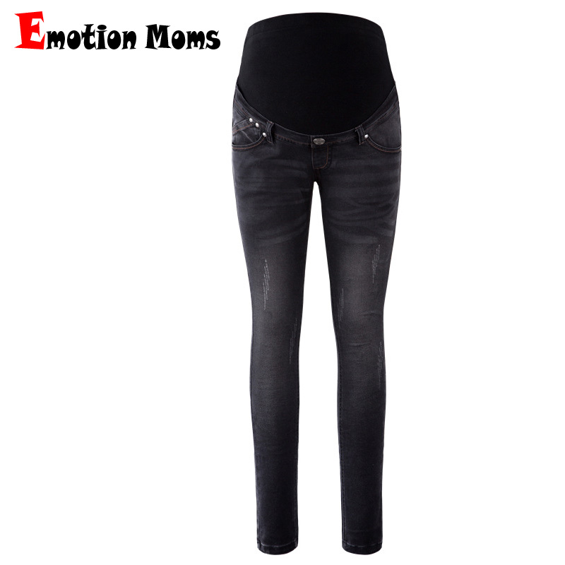 Emotion Moms Maternity Jeans For Pregnant Woman Pregnancy Pants Elastic waist Pregnancy Clothes Plus Size Femme Enceinte Jeans 6 extra large new jeans woman version jeans trousers tight women jeans feet pencil pants pants high waist jeans plus size page 1