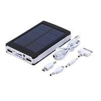 Wopow Solar Power Bank 20000mAh Portable Panel Power Socket External Battery Pack PowerBank 20000 Mah For