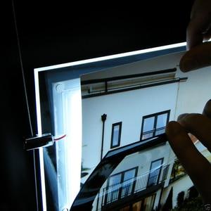 Image 2 - (4unit/Column) A4 Single Sided Hanging Magnetic Frame Led Light Boxes,Even Poster Illumination Light Pockets