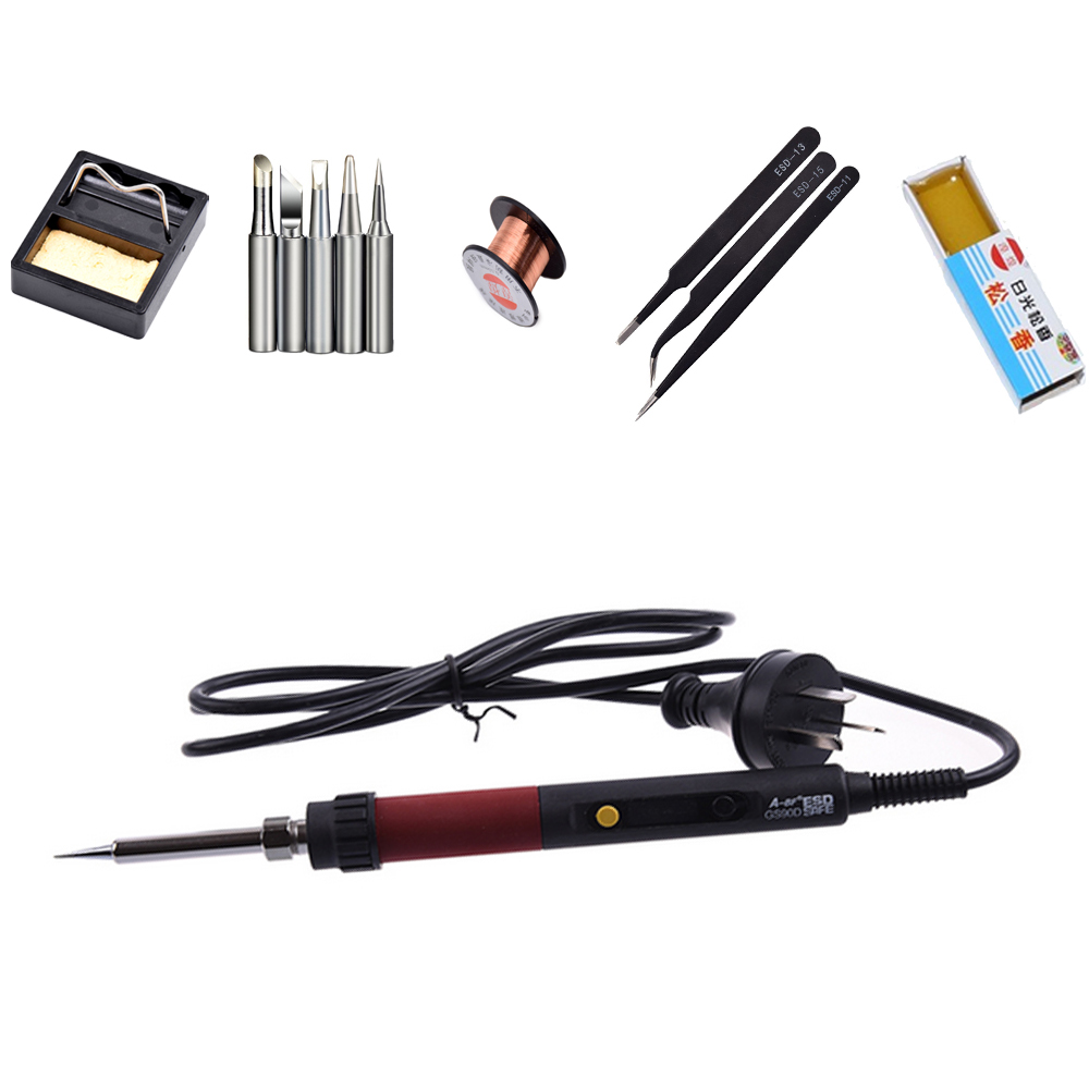 ФОТО GS90D 90W Digital LCD Electric Soldering Station Temperature Adjustable 220V Soldering Iron