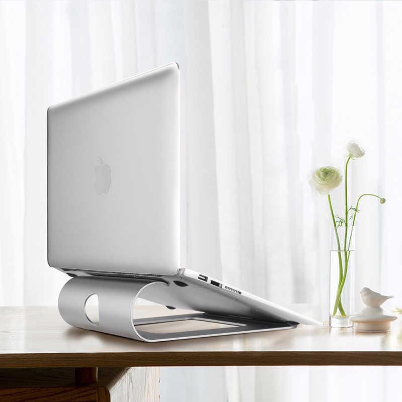 الألومنيوم اللوحي حامل الكمبيوتر المحمول حامل لماك بوك اير برو الشبكية 11 12 13 15 بوصة دفتر قاعدة تبريد كمبيوتر محمول برودة قوس
