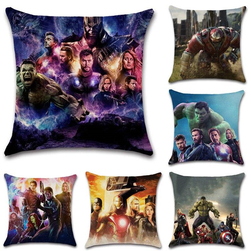 Superhero movie show printed beige linen cushion cover Throw Decor Chair seat sofa Decoration Home kids bedroom Pillow case