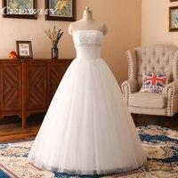 CEEWHY Crystal Lace Wedding Dresses Ivory Casamento Brautkleider Hochzeitskleid Bridal Dress Robe de Mariee White Wedding Gowns