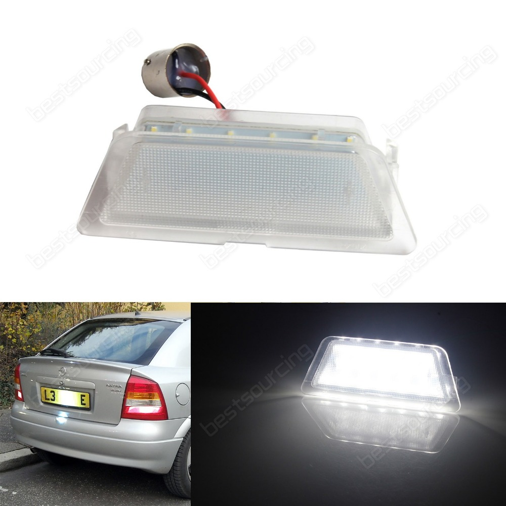 For Vauxhall Opel LED License Number Plate Light Astra G MK4 Saloon Hatchback 98-04(CA337) vauxhall opel led licence number plate light astra f g corsa omega signum vectra ca233