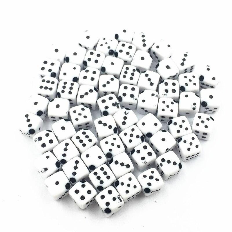 100Pcs Spacer Beads White Tiny Square Dice Acrylic Fashion