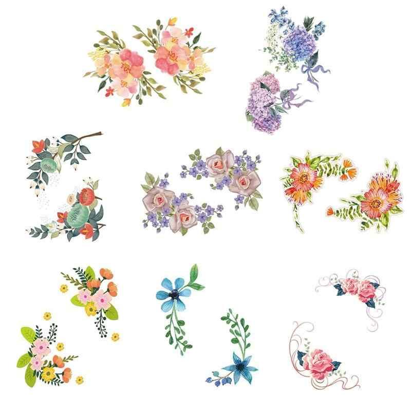 Оригинальные цветы холодильник ПВХ художественные наклейки на стену Kicthen стул для ванной плакат Переводные рисунки наклейки на стену для спальни детские комнаты