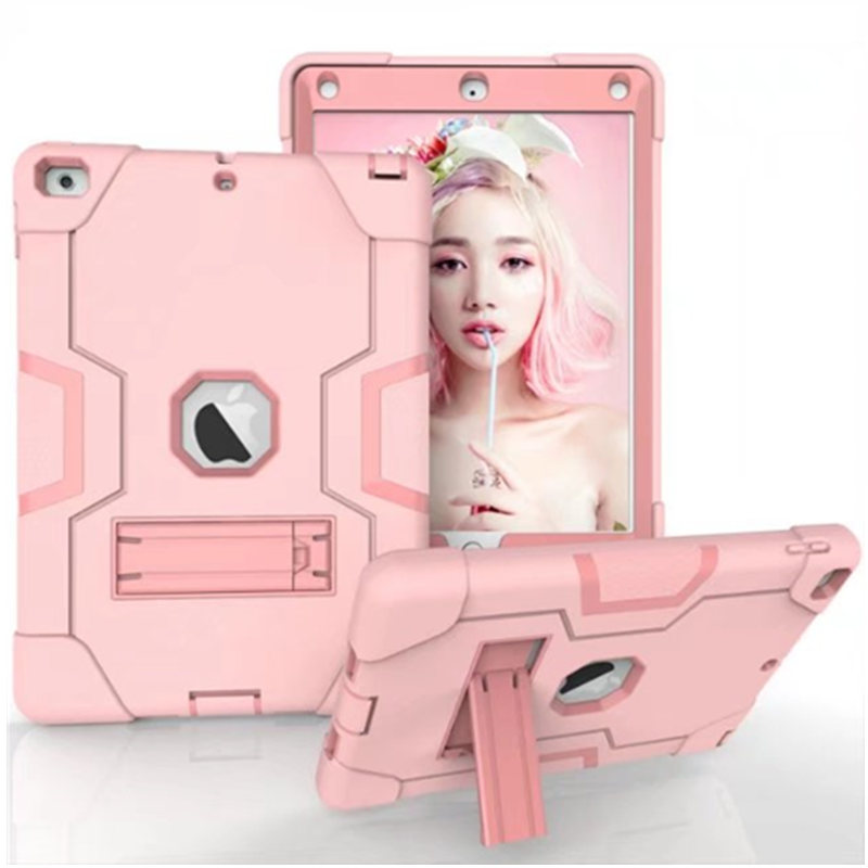 Kids Safe Shockproof Heavy Duty Armor Rugged Drop Resistance 3 In 1 Silicone Hard Plasic Case for iPad 9.7 inch 2017 A1822 A1823