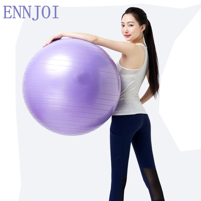 55/65/75CM Yoga Ball Physical Gym Exercise Pilates Yoga Ball for Fitness Appliance Exercise Balance Home Pilates Balls ...