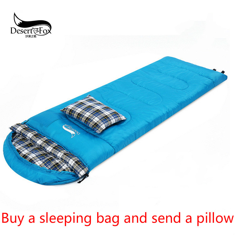 DesertFox 2017 Outdoor sleeping bag double couple camping bag adult camping noon hour sleeping bag winter Thicker heating  couple double sleeping bag with pillows lightweight outdoor camping tour portable adult lover warm sleeping bag for 3 seasons