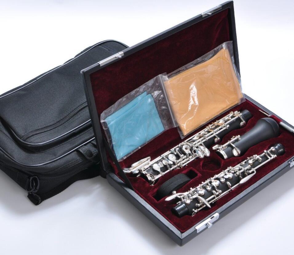 Composite bois semi-automatique hautbois avec D Ouverte clé pour musicien professionnel Instrument à vent avec Reed En Cuir Étui De Transport