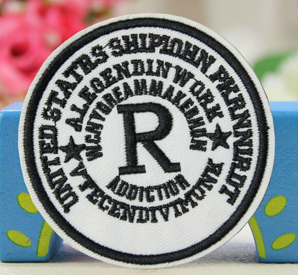 7.2cm Letter R Iron On Patches Biker Vest Patches Embroidered Badge Jacket Motorcycle Club Biker Outlaw Mc Custom Curing Cough And Facilitating Expectoration And Relieving Hoarseness Home & Garden