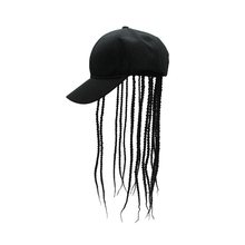 Unisex Wig Hair Dreadlocks Cap Braid Sun Visor Hats Novelty Party Birthday Hippie Hat Funny Costume Gag Halloween Hip Hop Gorro(China)