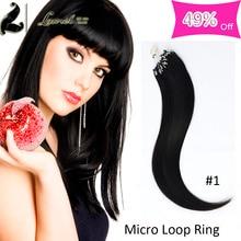 Laurel Hair Products Micro Ring Hair Extension 100s Cheap 8a Grade Brazilian Virgin Hair Silky Straight 16-24inch No Tangle Hair