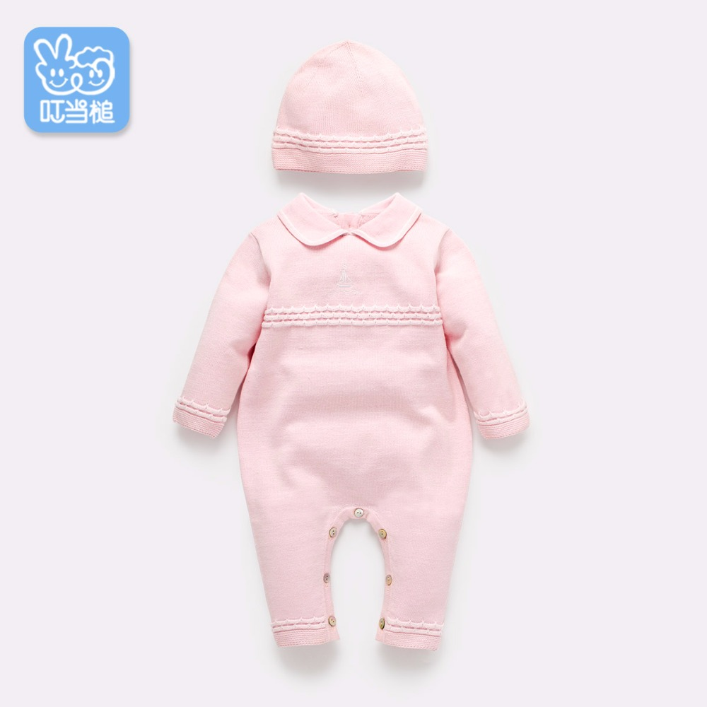 Dinstry Newborn Baby Girl cotton romper jumpsuit long sleeved Spring and autumn Pink Infant clothing clothes newborn baby rompers baby clothing 100% cotton infant jumpsuit ropa bebe long sleeve girl boys rompers costumes baby romper