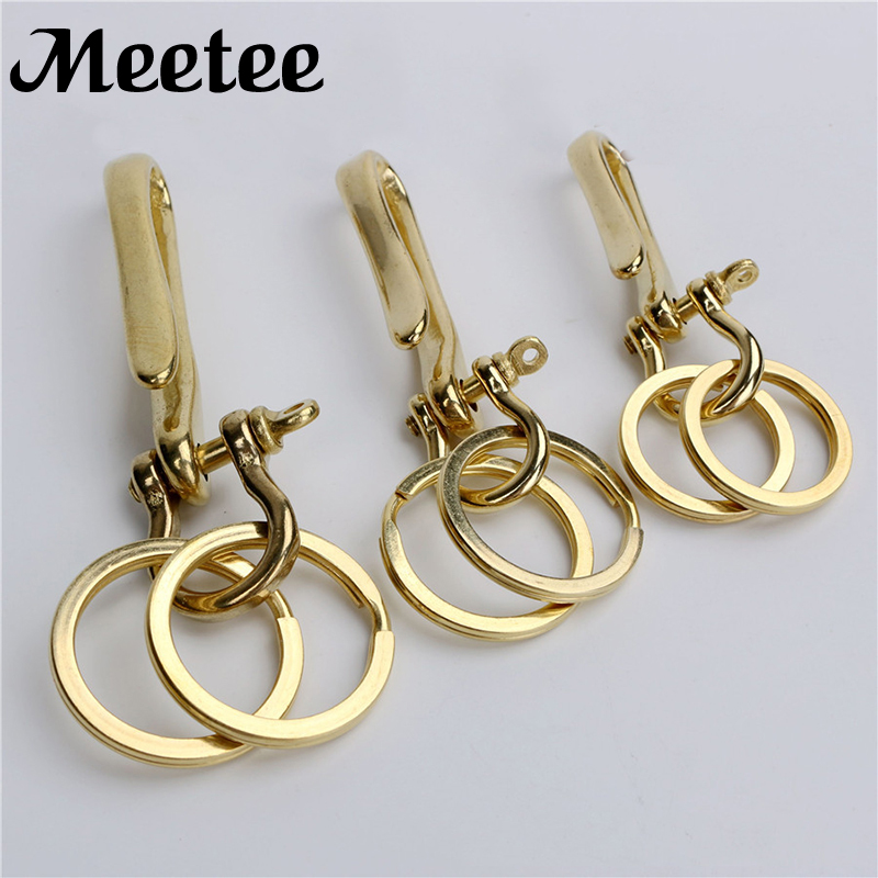 Brass Or Stainless Steel Screwed O Ring Clasps Anchor Shackle Adjustable For Key Chain Paracord Bracelet Belt Diy Accessories Buckles & Hooks Home & Garden