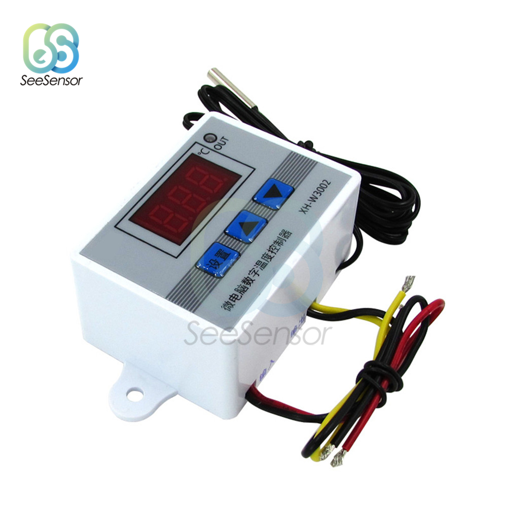 <font><b>W3002</b></font> AC 220V LED Digital Temperature Controller Thermostat Control Switch Thermoregulator Sensor Meter With Probe XH-<font><b>W3002</b></font> image