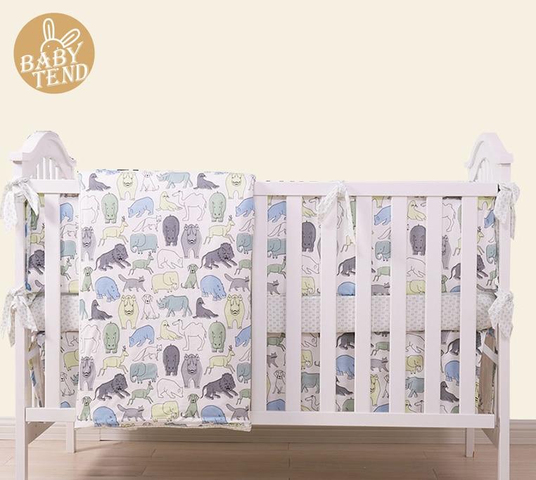 8 Pc Cot bedding set for newborn babies  Infant Room Kids Baby Bedroom Set Nursery bumper  quilt, sheets,pillow,skirt
