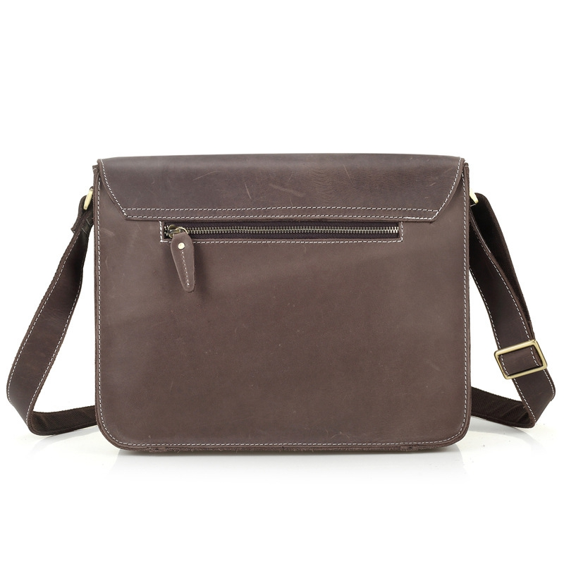 Herren Vintage Handtaschen Brown Bolsas Mann Tasche Leder Business Echtem Verschiffen Schulter Aktentasche Umhängetasche 2017 Drop FEqzxSF