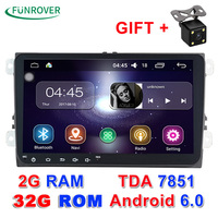 Android 6.0 2 din Car radio dvd gps Multimedia DVD Headunit Player 2G RAM for volkswagen VW skoda GOLF 5 6 Polo Passat Tiguan CC