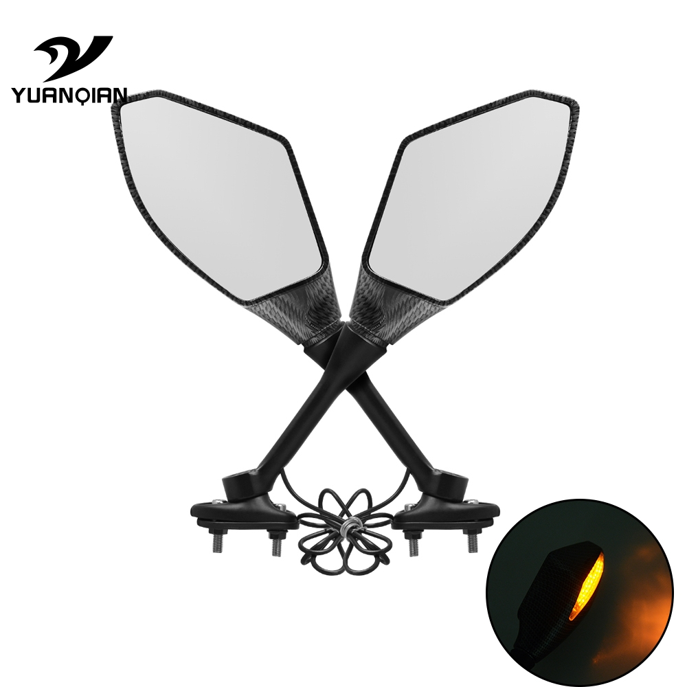 Universal motorcyle Plastic + glass Mirror Motorbike Side rearview mirror For MOTO GUZZI V7 Classic Racer Stone/Special V9