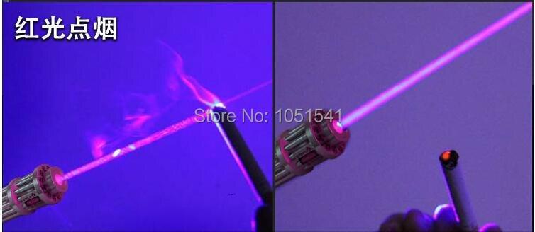 AAA NEW Military Hunting LED 650nm 20000m RED Laser Pointer Light Pen Lazer Beam High Power focus burn match lit cigarette+5 cap