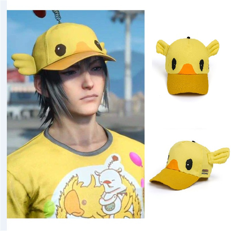 Takerlama Final Fantasy XV Noctis Lucis Caelum Cosplay Carnival Cap FF15 Moogle Chocobo Hat Halloween Costume Accessories