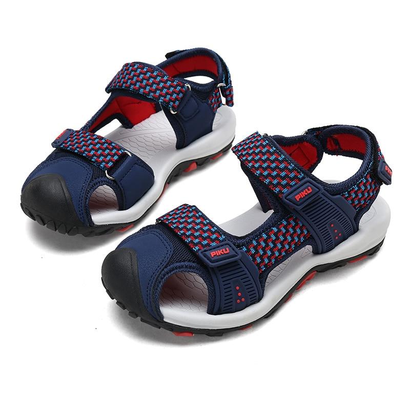 ULKNN Summer Sandals New Designer Children Flats Breathable Anti-slippery Boys  Closed Toe Slippers Sandalias Fashion