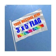 Пользовательский флаг 90X150 см Баннер 3x5FT Крытый Открытый полиэстер реклама спортивный Декор клуб вечерние подарок цифровой
