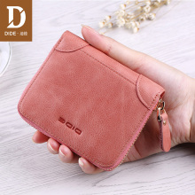 DIDE Fashion Wallet Women Genuine Leather Card Holder Wallets Short mini wallet purse zipper Coin Brand Dropshipping
