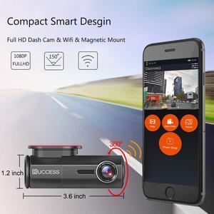 Image 2 - RUCCESS araba dvrı Full HD 1080P çizgi kam WIFI araba kamera kayıt cihazı 24H park monitörü gece görüş İngilizce/rusya versiyonu