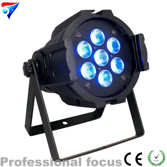 Free shipping 7*10W LED Mini PAR Light RGBW 4IN1 LED PAR64 LED stage Lights free shipping 2 lot 18x10w led par64 led par 64