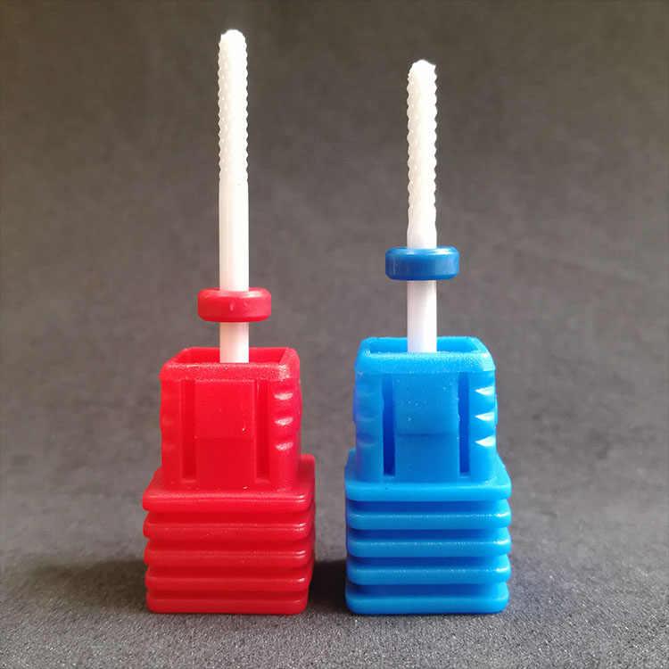 Mini Prego Brocas de Cerâmica Acessórios de Cerâmica Bit Máquina Manicure Gel Removedor de Pedicure Ferramentas Pequeno Cone Barril Bola Redonda