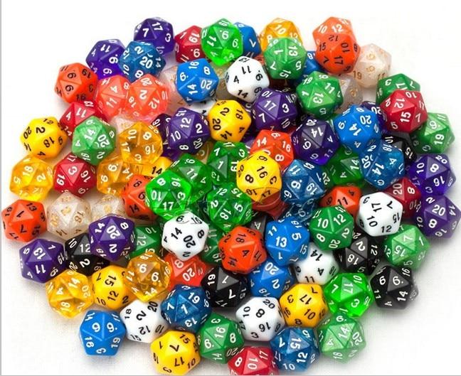 Змајеве и тамнице ТРПГ коцке, 20 сидед коцкице (не 20 коцкица, 1 ком = 1 коцкица)
