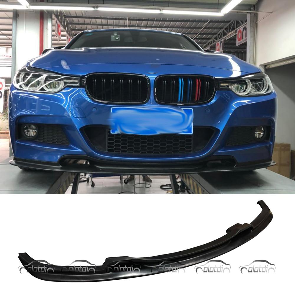 Expédition Express STR Style voiture Style PU matériel avant lèvre pare-chocs Spoiler pour BMW série 3 F30 F31 M TECH M Sport paquet