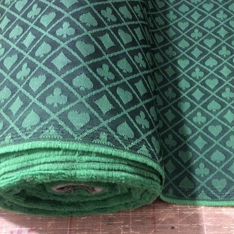 FT-04 Two-tone Poker Table Speed Cloth, New Design, Black And Green Waterproof Suited High Speed Cloth For Poker Table