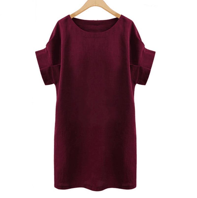 2017 verano nuevas mujeres europeas vestidos moda cuello redondo - Ropa de mujer